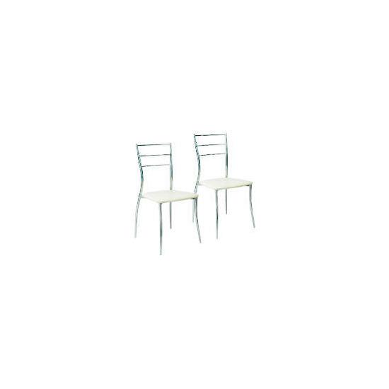 Pair of Helsinki Chairs, Cream