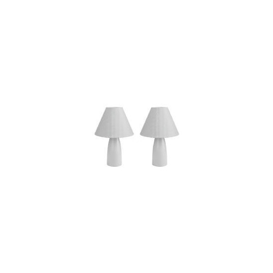 Tesco Pair Of Tapered Ceramic Table Lamps, Blue