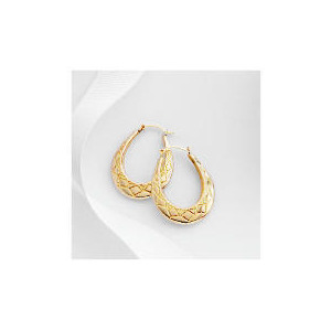 Photo of 9CT Gold Creole Earrings Jewellery Woman