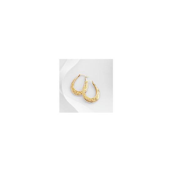 9ct gold creole earrings