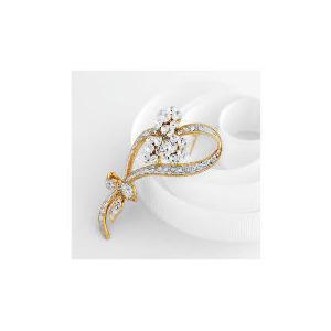 Photo of Adrian Buckley Crystal Flower Brooch Jewellery Woman