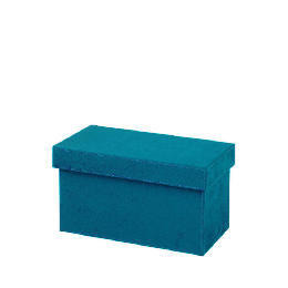 Teal faux suede CD box Reviews