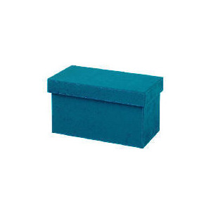 Photo of Teal Faux Suede CD Box CD and DVD Storage