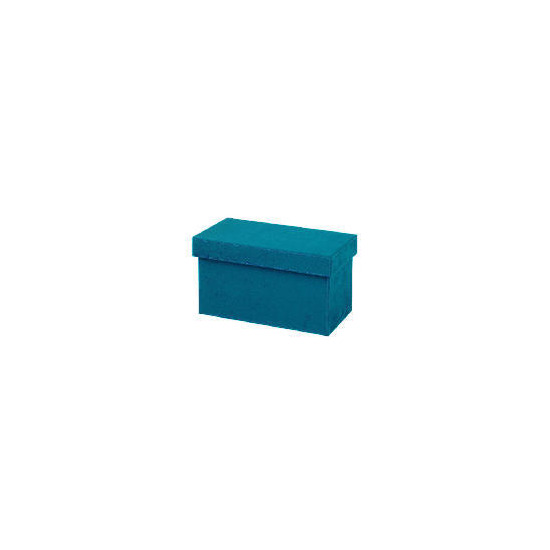 Teal faux suede CD box
