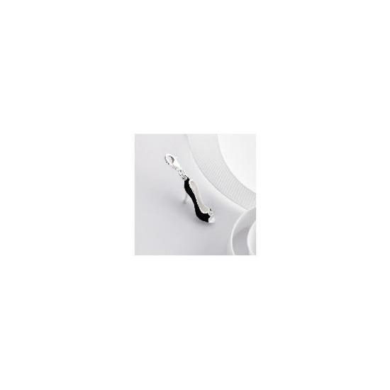 Sterling Silver Black Enamel Shoe Charm