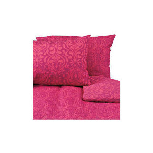 Photo of Tesco Damask Double Duvet Set, Fuschia Bed Linen