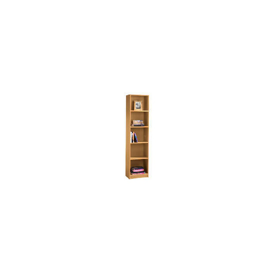 Value 5 shelf 40cm Bookcase, Oak effect