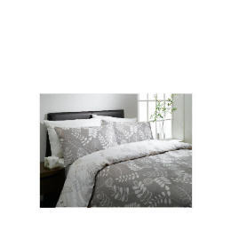 Tesco Leaf Print Double Duvet Set, Natural Reviews