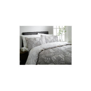 Photo of Tesco Leaf Print Double Duvet Set, Natural Bed Linen