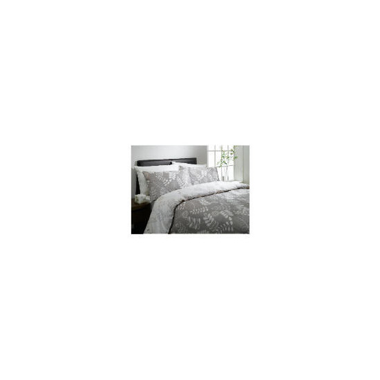 Tesco Leaf Print Double Duvet Set, Natural