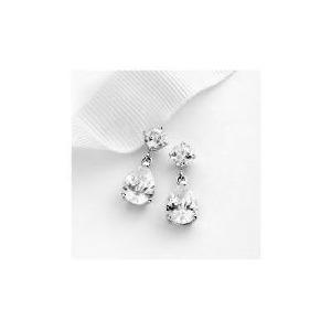 Photo of Sterling Silver Cubic Zirconia Drop Earrings Jewellery Woman