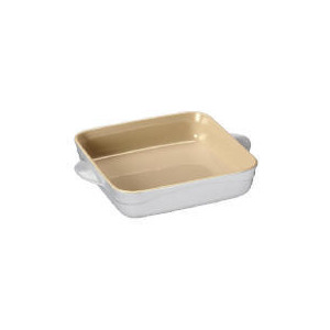 Photo of Le Creuset Curve Stoneware 21CM Square Baking Dish - Country Cream Kitchen Accessory