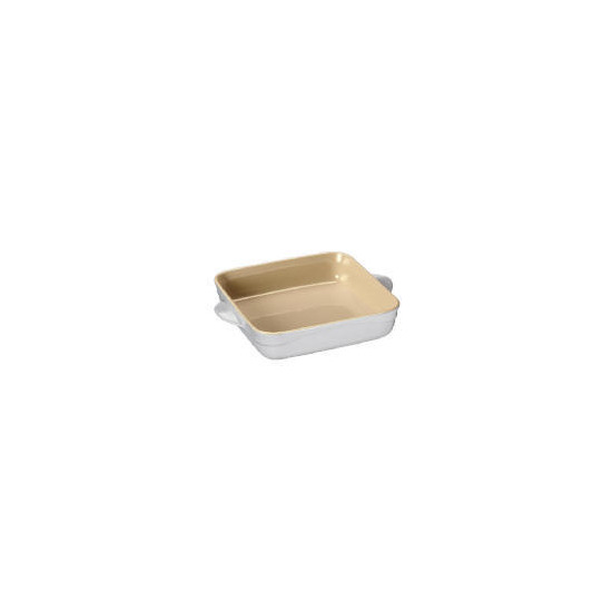 Le Creuset Curve stoneware 21cm square baking dish - Country Cream