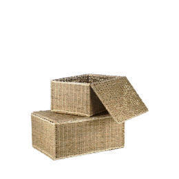 Tesco seagrass lidded trunks set of 2 Reviews