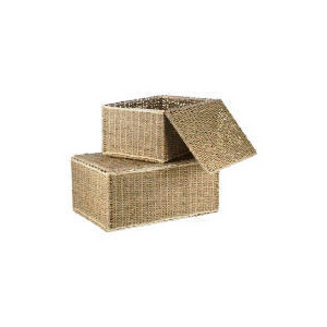 Photo of Tesco Seagrass Lidded Trunks Set Of 2 Household Storage