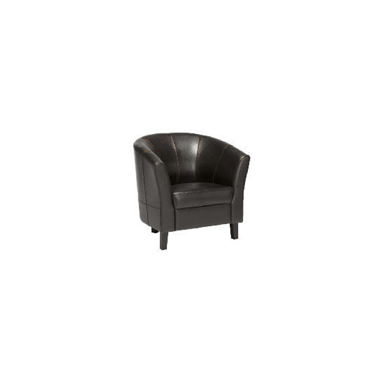 Greenwich Leather Armchair, Black