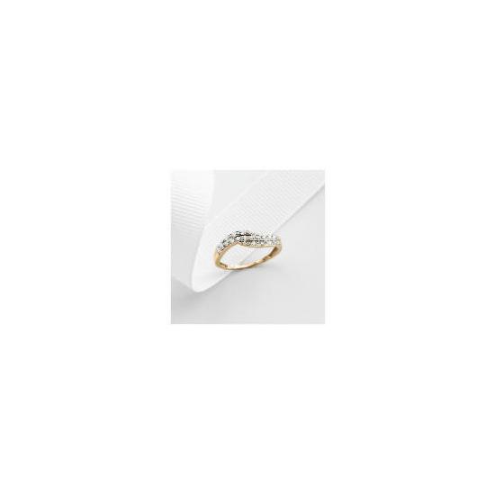 9ct Gold 11pt Diamond Ring S