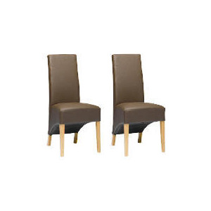 Photo of Pair Of Monterosso Chairs, Brown Leather With Oak Legs Furniture