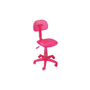 Photo of Sherbet Plastic Home Office Chair, Pink Office Furniture