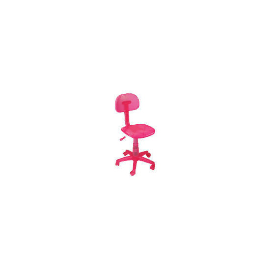 Sherbet Plastic Home Office Chair, Pink