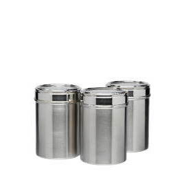 Tesco Stainless Steel cannister 3 pack Reviews