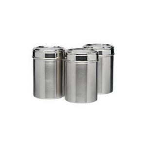 Photo of Tesco Stainless Steel Cannister 3 Pack Kitchen Accessory