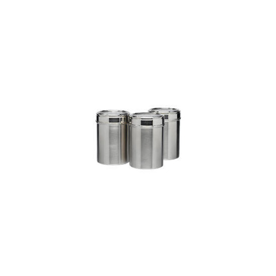 Tesco Stainless Steel cannister 3 pack