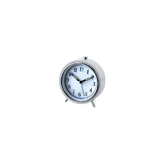 LC Alarm Clock Small White