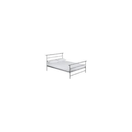 Cadiz Double Bed, Silver Finish