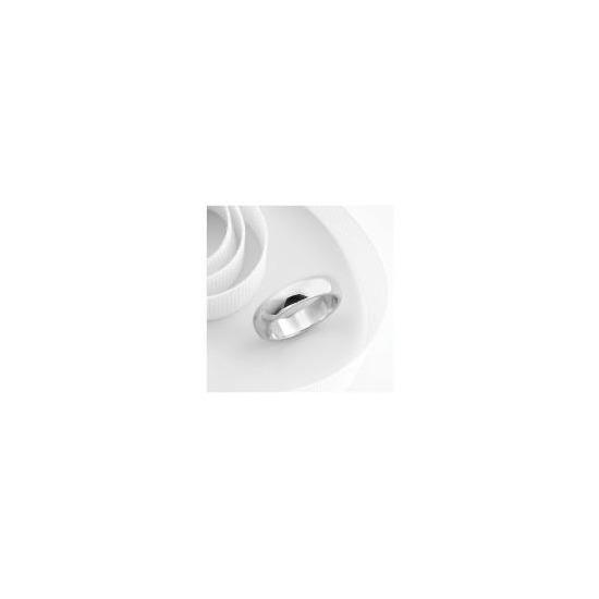 9ct White Gold 5mm Wedding Ring R