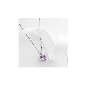 Photo of 9CT White Gold Amethyst Pendant Jewellery Woman
