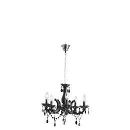 Maria Therese Five Light Ceiling Fitting Chrome Black Reviews