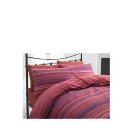 Tesco Stripe Single Duvet Set, Plum/ Red Reviews