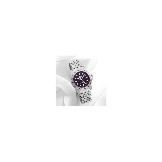 Slazenger 04 Black Dial Bezel detail Bracelet 50m