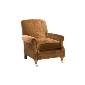 Photo of Finest Express Bloomsbury Velvet Club Chair, Cocoa Furniture