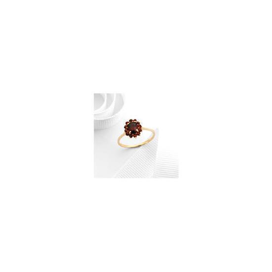 9ct Gold Garnet Ring M