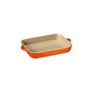 Photo of Le Creuset Curve Stoneware 30CM Rectangular Baking Dish Flame Cookware