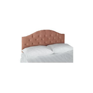 Photo of Sandon Acrylic Double Headboard, Coral Bedding
