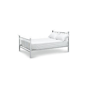 Photo of Amur Double Bed, Chrome Bedding