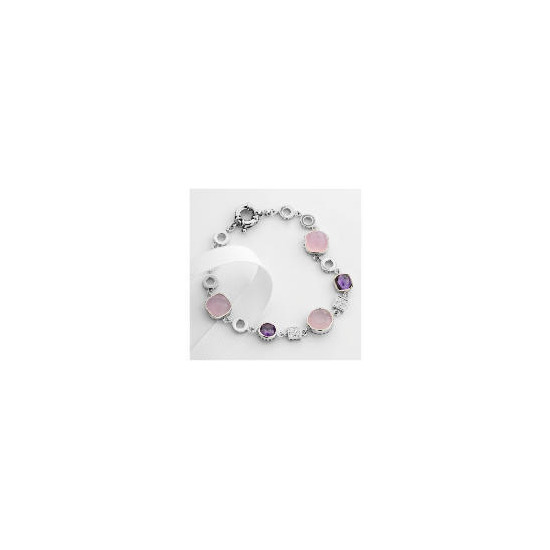 Adrian Buckley Pink and Purple Cubic zirconia Bracelet