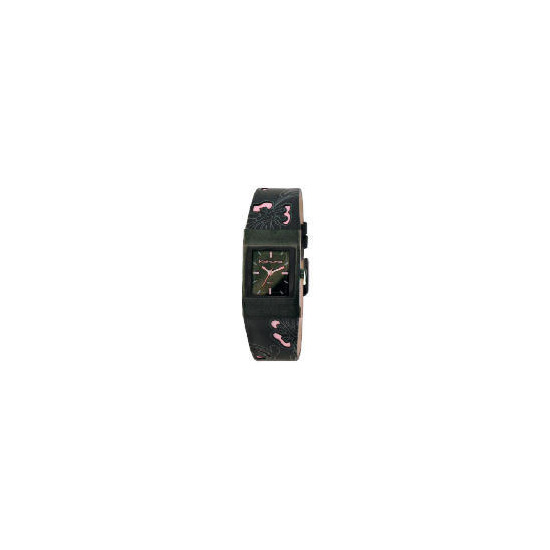 Kahuna ladies black and pink watch