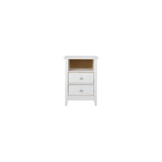 Fairhaven 2 drawer Bedside table, White