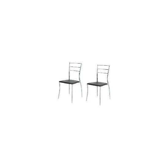 Pair of Helsinki Dining Chairs, Black