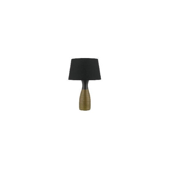 Tesco Gold Ribbed Bottle Table Lamp