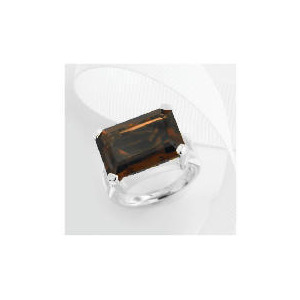 Photo of Sterling Silver Smoky Quartz Ring, Large Jewellery Woman