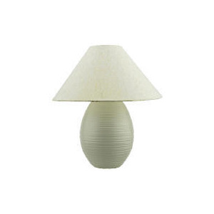 Photo of Tesco Ivory Ribbed Table Lamp Lighting