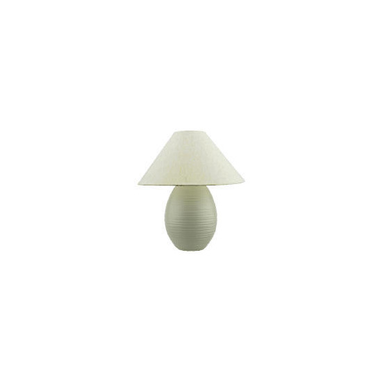 Tesco Ivory Ribbed Table Lamp