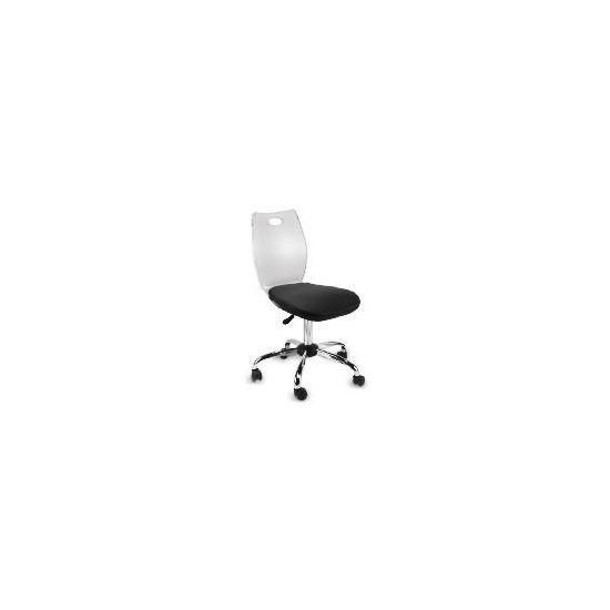 Glacier Acrylic Chair, Black Cushion