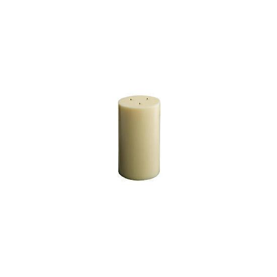 Tesco Multiwick Candle Ivory 15X26cm