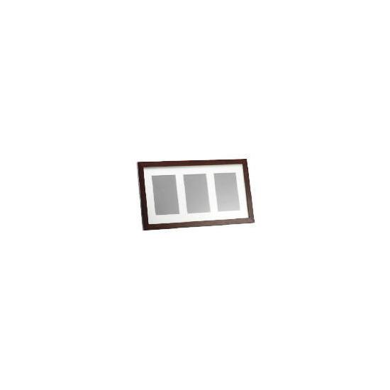 Tesco Dark Wood Frame 3 Aperture